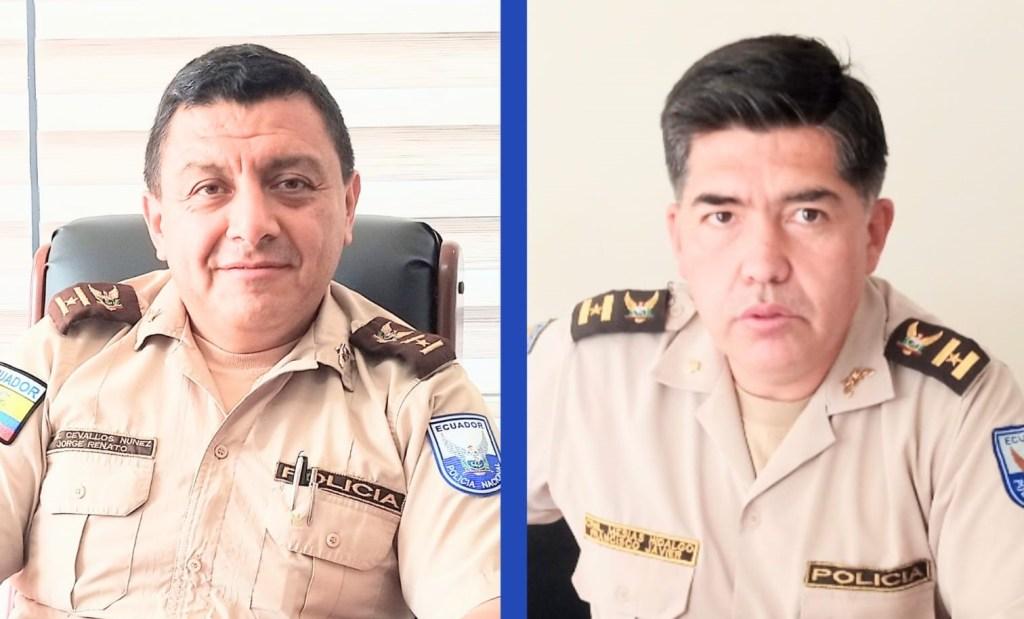 Renato Cevallos Núñez (izq.) y Francisco Mesías Hidalgo ejecutaron varios proyectos a favor de la seguridad ciudadana.