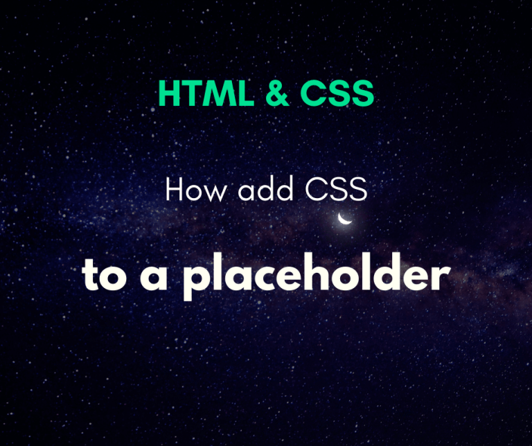 How to add CSS to the input placeholder cover