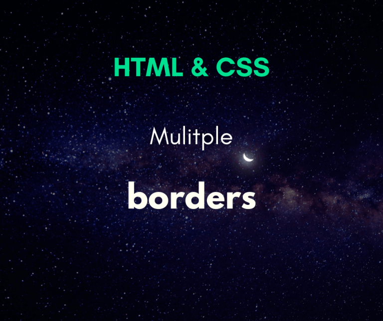 Multiple borders with CSS cover