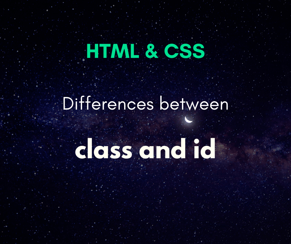 differences between class and id cover