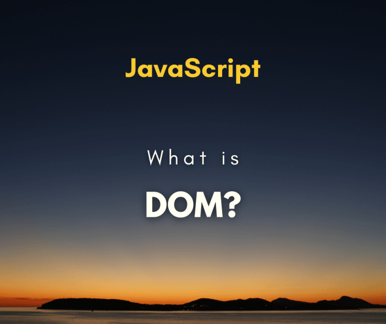 What is JavaScript DOM cover