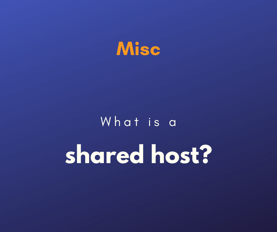 What is shared host cover