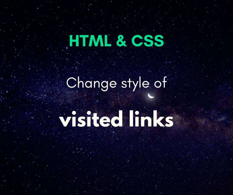 change the style of already visited links cover