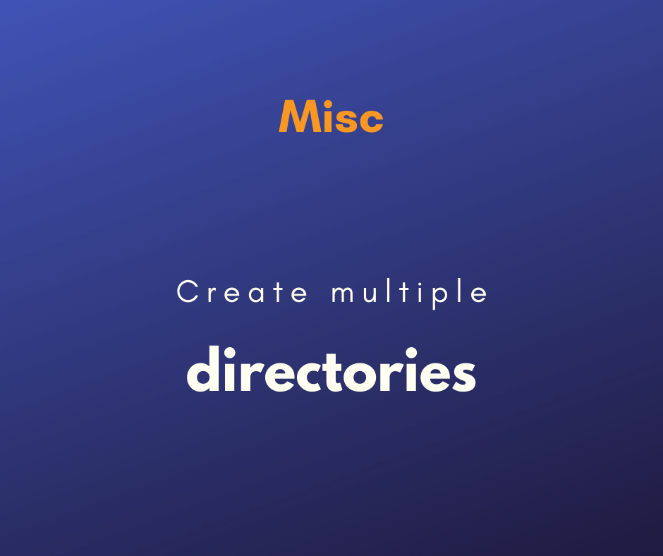 create multiple directories at once on Linux cover