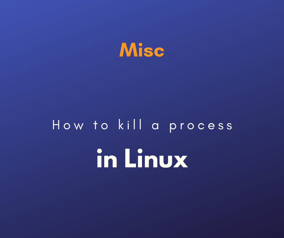 kill a process in Linux cover