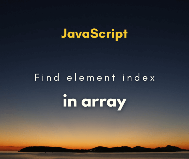 find element index in array cover