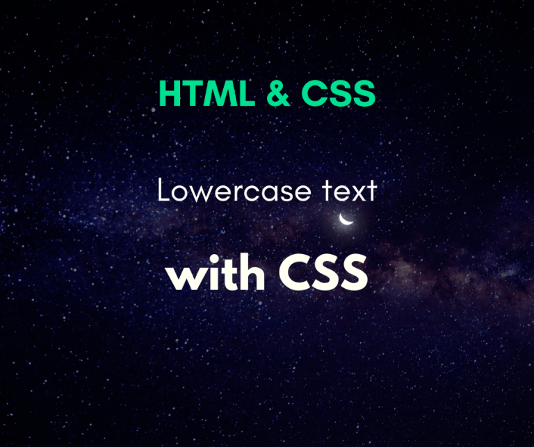 lowercase text using CSS cover
