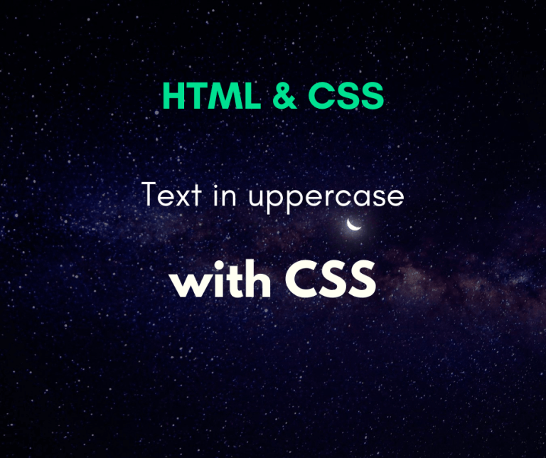 text in uppercase with CSS cover