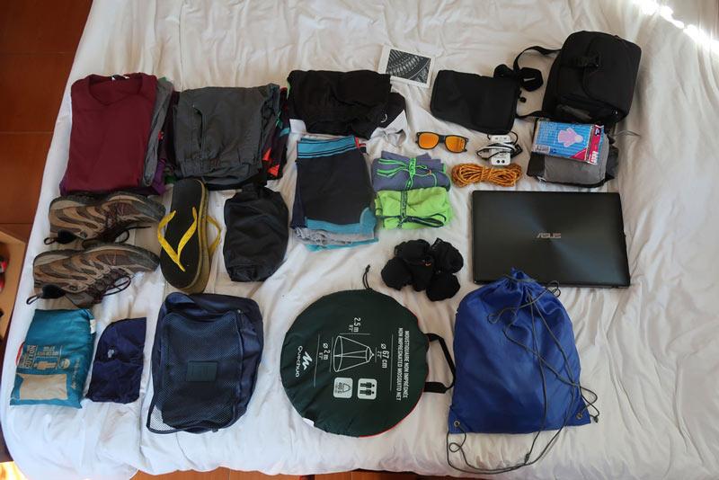 Maleta mochila que llevo a Tailandia