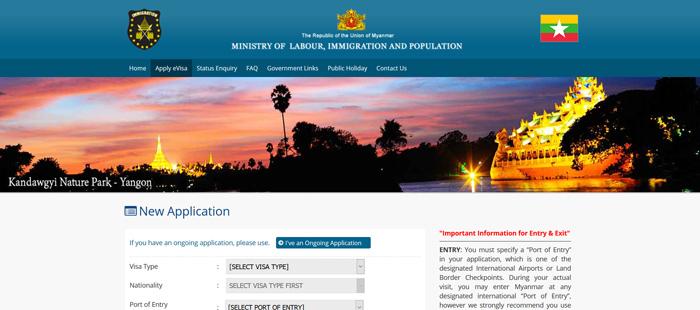 Pagina oficial de visado online