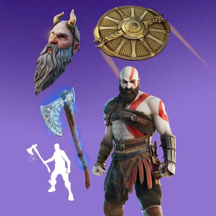 El paquete Kratos está disponible en la tienda de artículos de Fortnite por 2,000 V-Bucks.