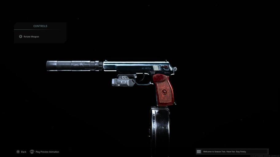 Pistola Call of Duty Warzone Sykov