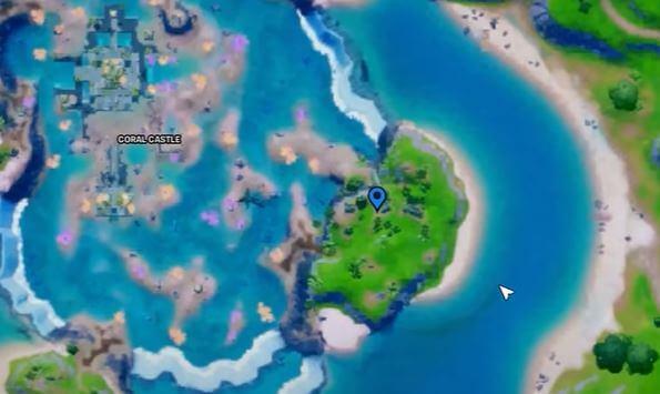 Ubicación del mapa de Raptor Fortnite
