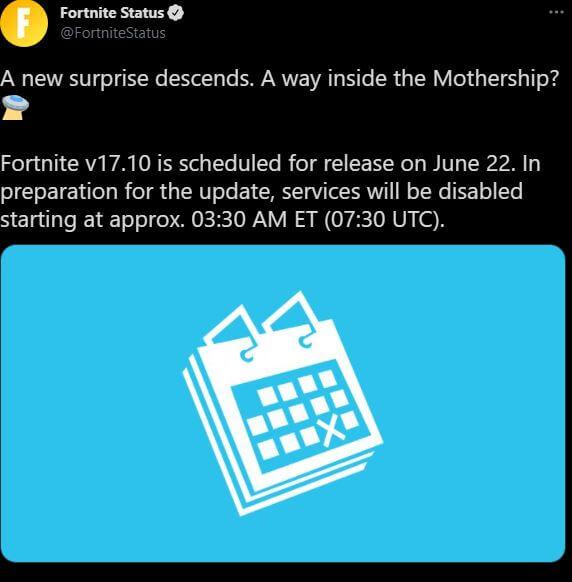 Actualización de Fortnite v17.10