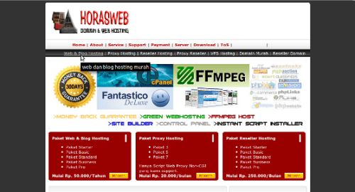horasweb old web design