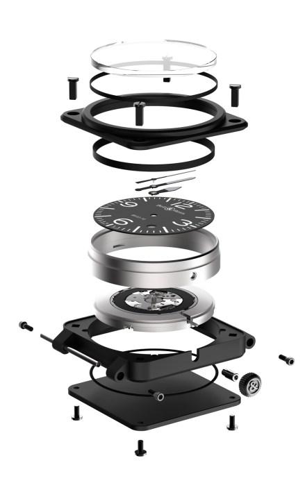 Bell & Ross BR03 92 Carbon Ceramic despiece