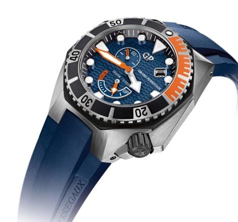 Girard-Perregaux Sea Hawk azul perfil