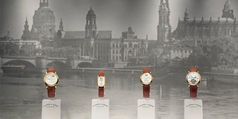 Primera colección de A. Lange & Söhne expuesta en la boutique de Dresde