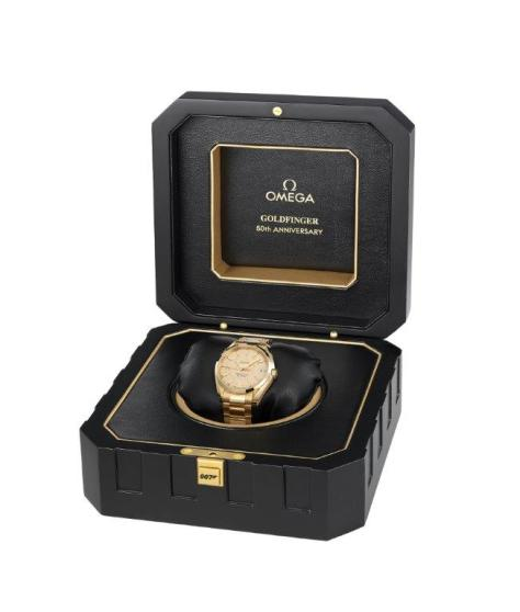 OMEGA Seamaster Aqua Terra Goldfinger reloj y caja