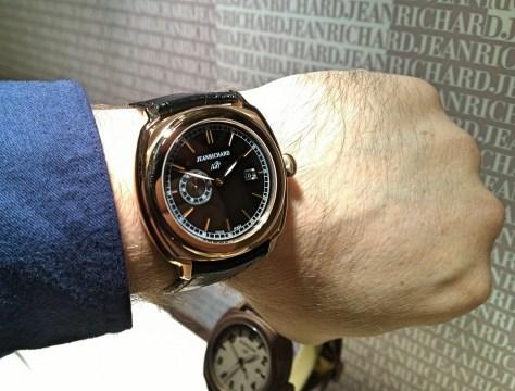 JeanRichard 1681 Black Dial en oro rosa