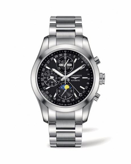 Longines Conquest Classic Moonphase en acero