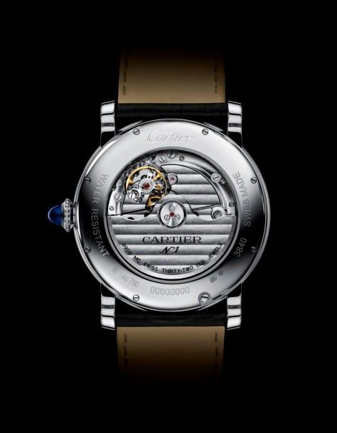 Rotonde de Cartier Calendario Anual Oro blanco reverso