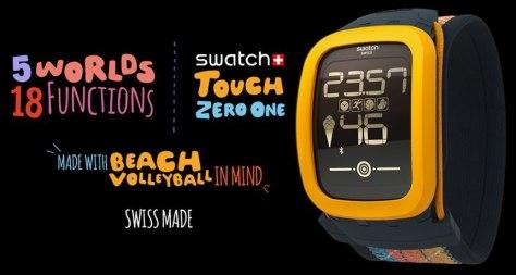 El Swatch Touch Zero One aparecido hace unos meses, enfocado al volley ball