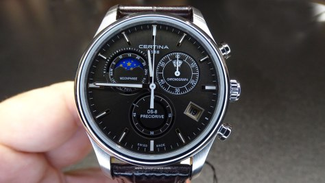 Certina DS 8 Chronograph Moon Phase esfera negra