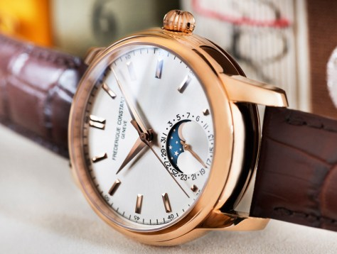 Frederique Constant Classic Manufacture Moonphase oro rosa perfil