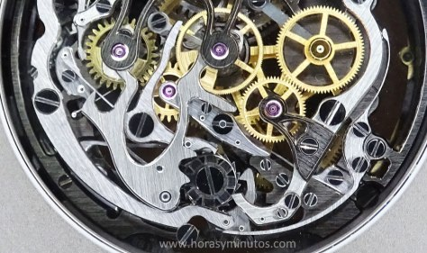 Audemars Piguet Royal Oak Tourbillon Chronograph calibre 2936 - detalle Horas y Minutos