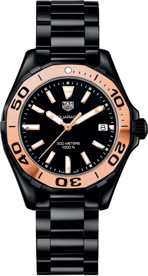 TAG-Heuer-Cronometrador-de-La-Liga-Aquaracer-300-m-full-ceramic-and-gold-Horasyminutos