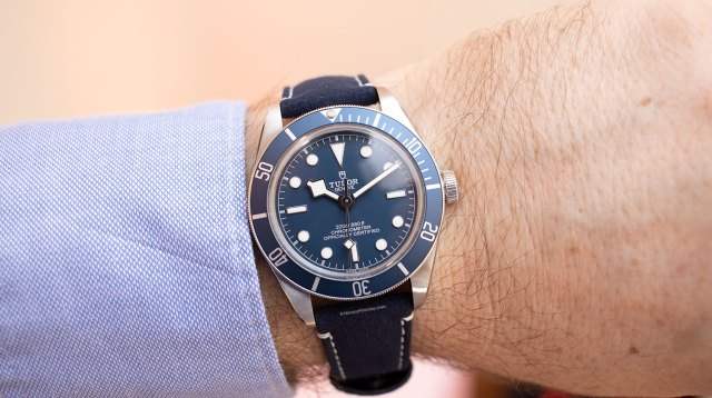 "El Tudor Black Bay Fifty-Eight ""Navy Blue"", con correa de piel"