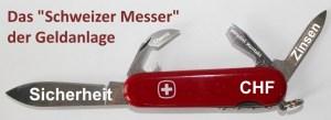 Schweizer Messer Anlage