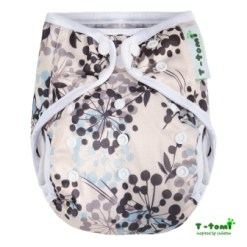 Gyönyörű virágos mosható pelenka külső-T-tomi
