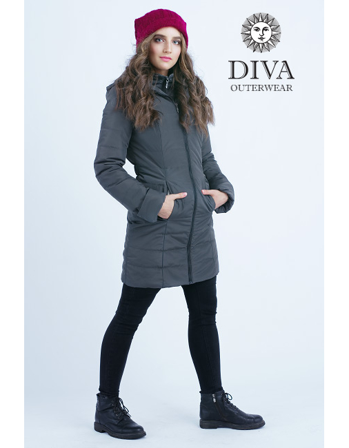 9354ad4efb Graphite téli babahordozó kabát 4 in 1 funkcióval-Diva Milano