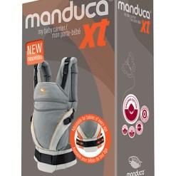 Manduca® XT biopamut csatos babahordozó - grey-orange