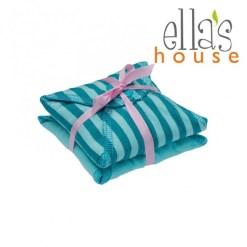 Ella's House Limitált mosható női betét midi türkiz csíkos