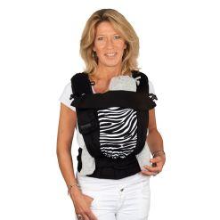 Black-zebra puplin slim-fit Bondolino babahordozó plus limitált