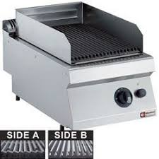 Lavasteengrill op gas | Rooster in gietijzer | 1/2 Model | 1700 ...