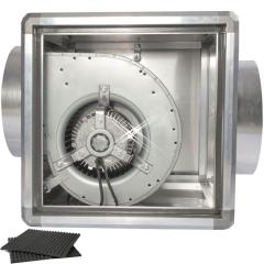 geïsoleerde afzuigbox 1000 m3/h