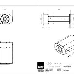 Geïsoleerde EC buisventilator 2170 m3/h – (EMI 250 EC 01)