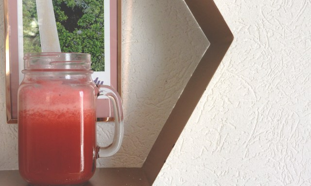 Jus fraise rhubarbe