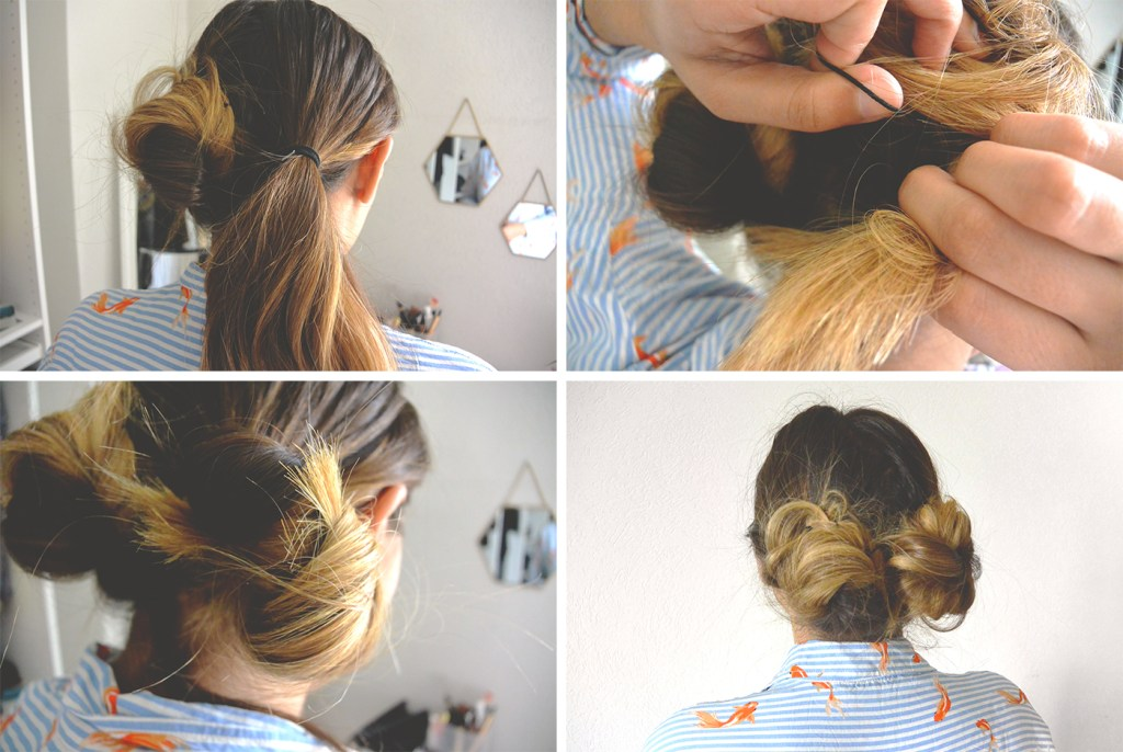 Comment faire un messy double buns