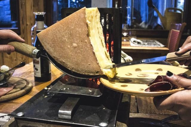 Raclette au restaurant Fredy