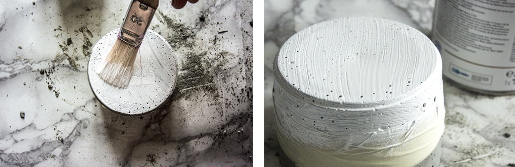 Démarcation et peinture du pot