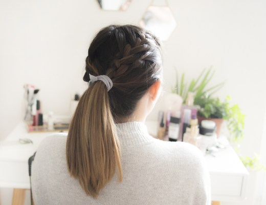 Double french braid ponytail