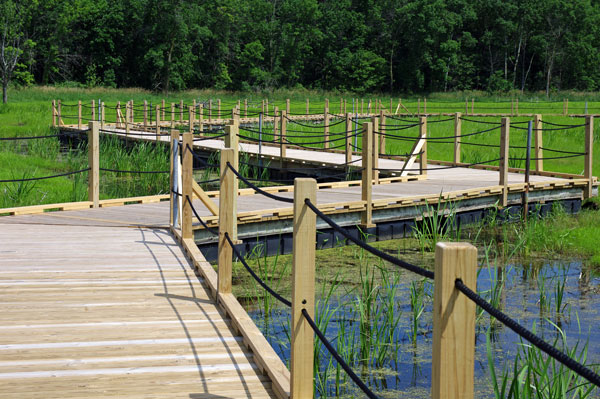 Floating Boardwalk Zigzags Through the Horicon Marsh