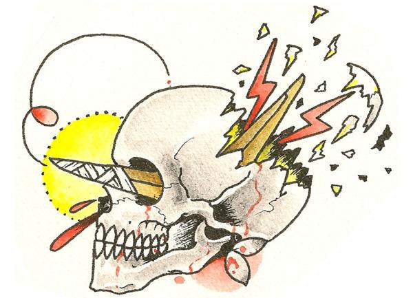 ブーメラン効果のタトゥーデザイン画像
