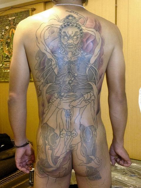 執金剛神のタトゥー画像
