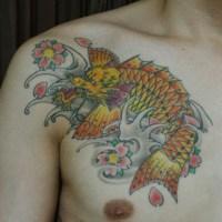 龍魚のタトゥー画像
